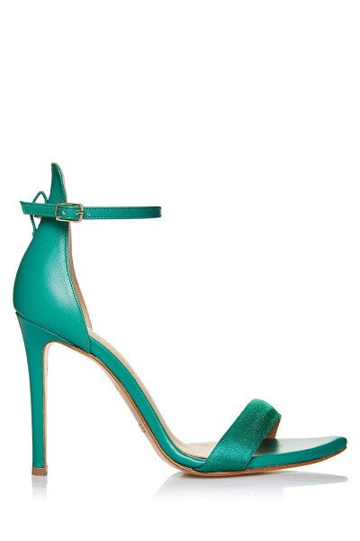Ankle-Strap Barely-There Heeled Sandals