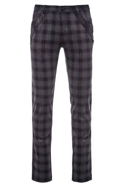 Plaid Print Pants
