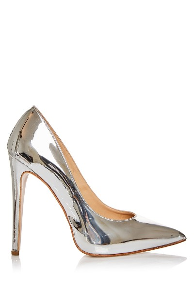 Patent Leather Pumps With Pointed Toe
