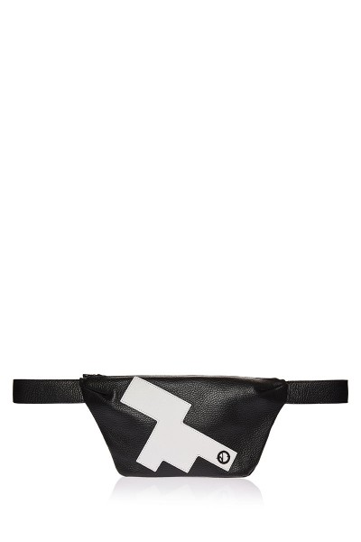Applique Trapezoid Waist Bag