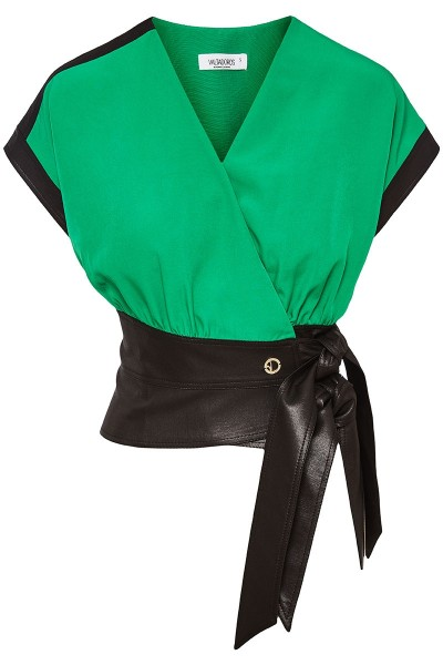 Double Breasted Blazer Vest With Belted Waistband