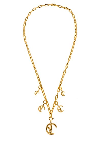 Valtadoros Long Chain Necklace With Detachable Monogram Pendants