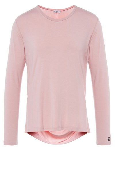 Long-Sleeved Drape T-Shirt