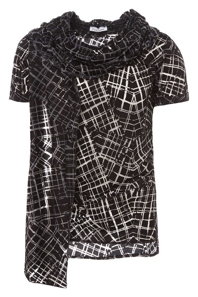 Short-Sleeved T-Shirt with Scarf