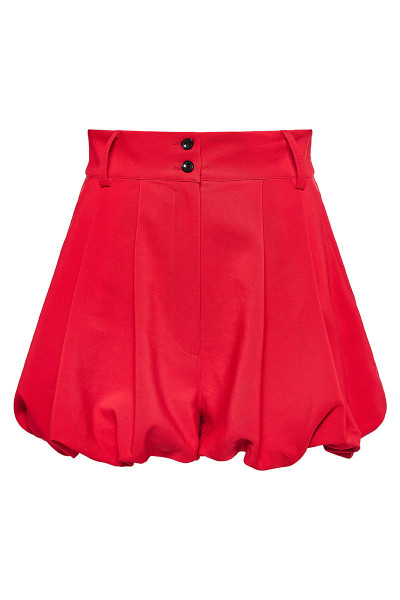 High-Rise Pleated Balloon Shorts