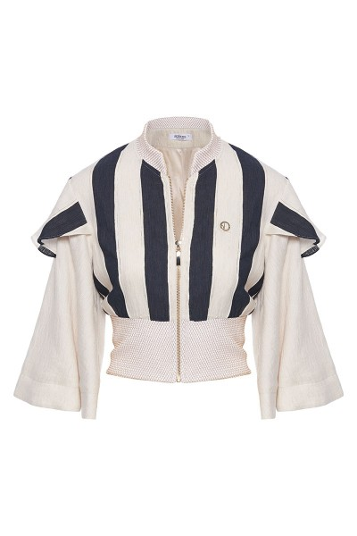 Double Bell Sleeved Bomber Jacket