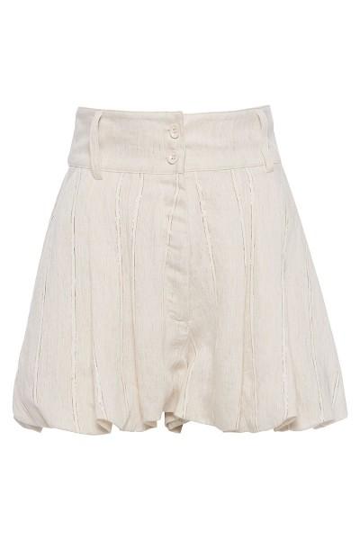 High-Rise Pleated Balloon Shorts