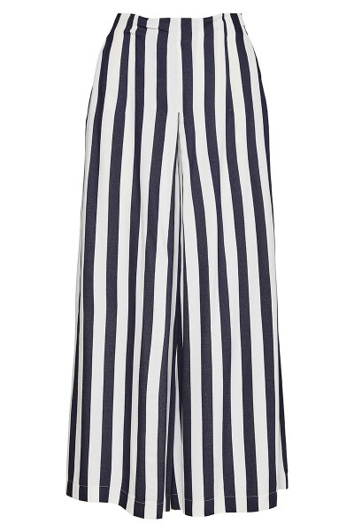 High-Rise Culottes With Inverted Box Pleat And Slash Pockets