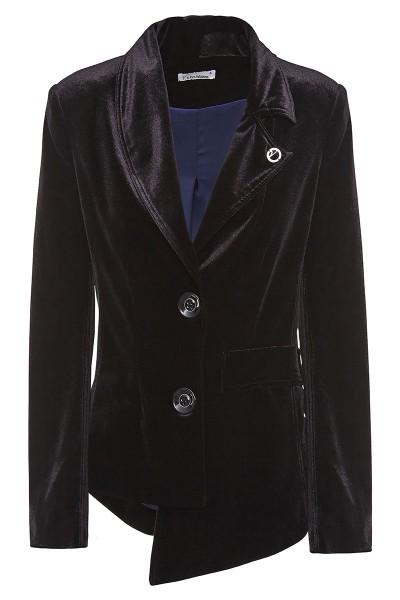 Asymmetrical Velvet Jacket