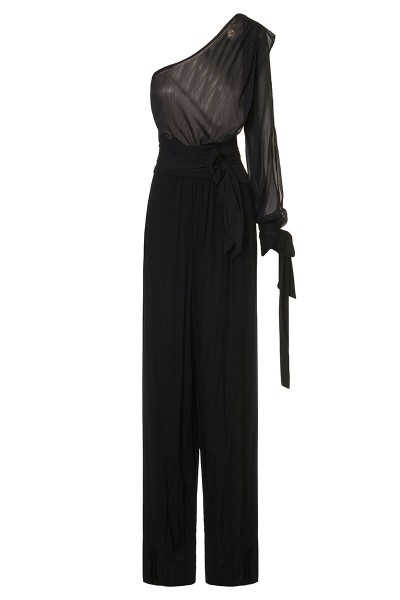 Single-sleeve One-shoulder Jumpsuit