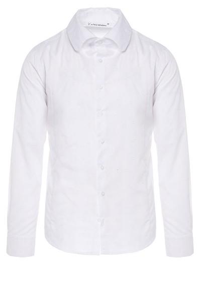 Spread-collar Burnout Shirt