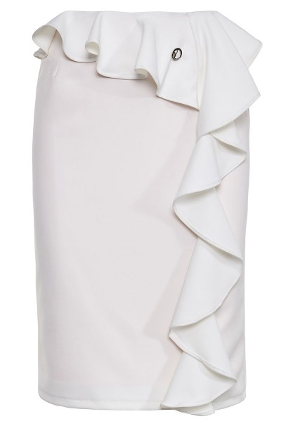 Fitted Ruffle Detailed Skirt