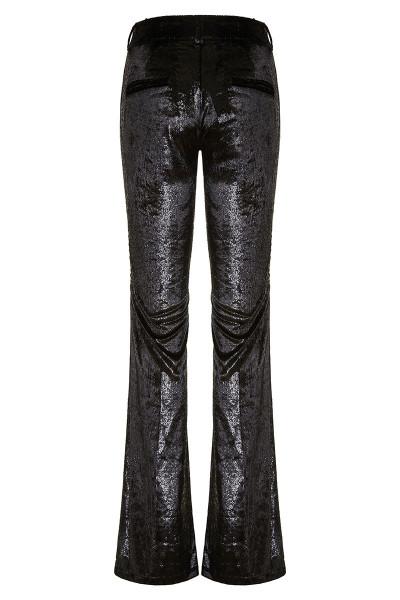 Shinny Velvet Flared Pants