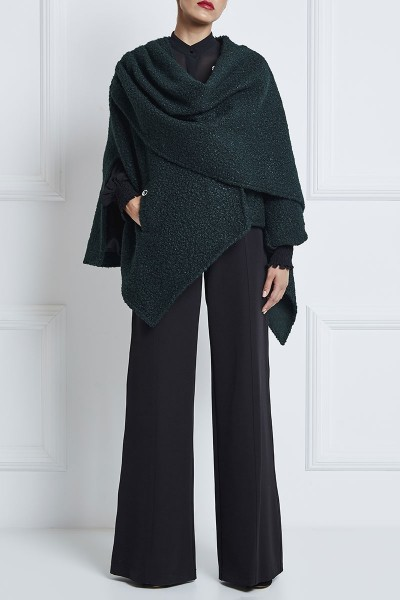 Wide-Leg Pants With Leather Details