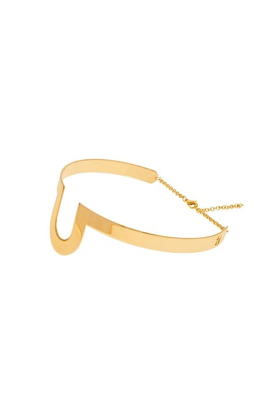 Valtadoros Semi-Oval Choker Necklace
