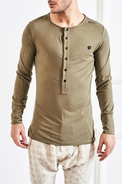Front Button Placket T-Shirt