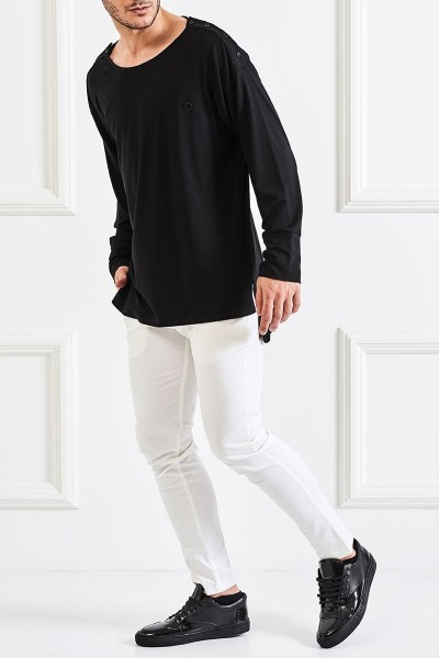 Side Button Placket T-Shirt
