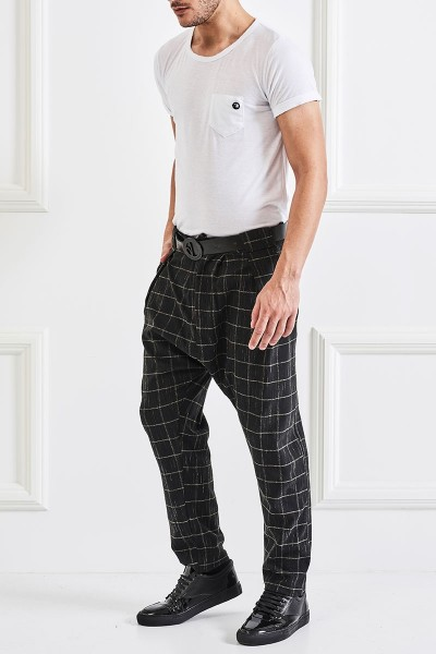 Checked Harem Pants