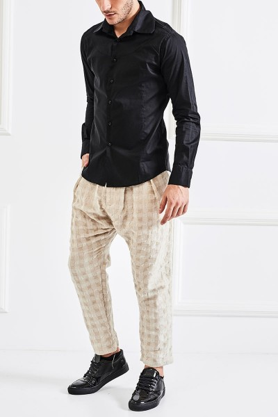 Spread-collar Shirt