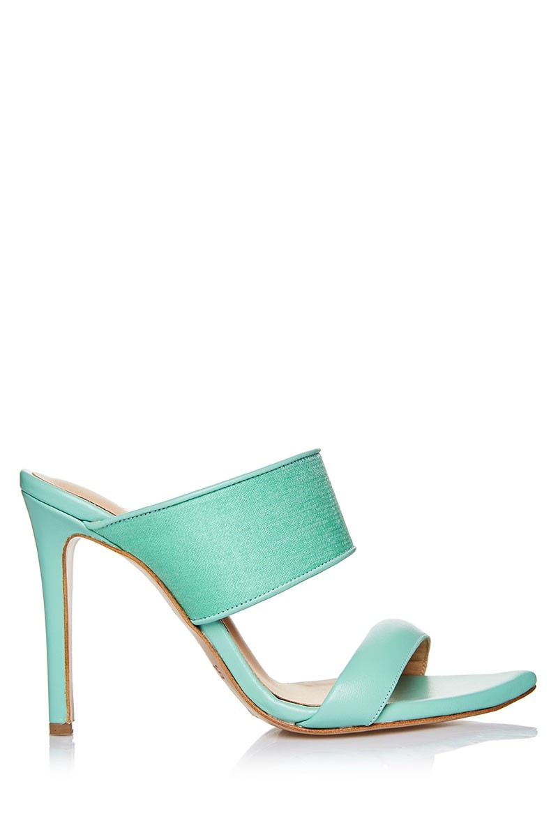 Heeled With Pearl Sandals Textile Finish Upper Mule thrdsQC
