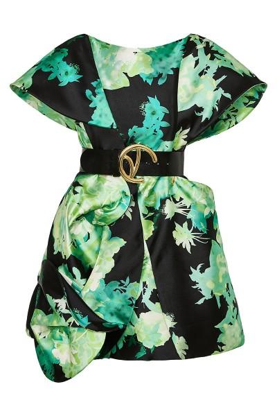 Κοντό Φόρεμα Ντουσέζ Σε Γραμμή Α Με Μανίκια - Επωμίδες