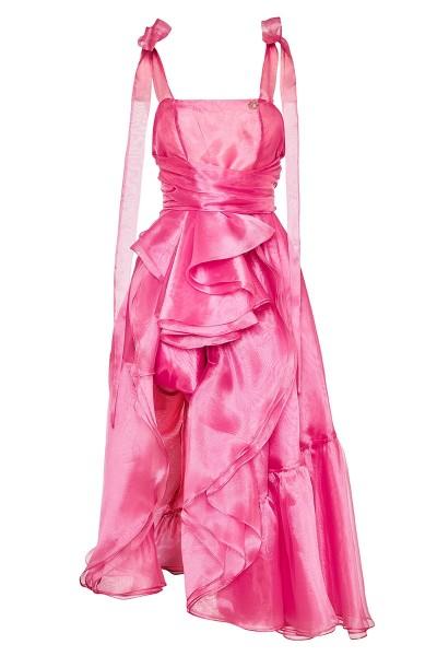 Φόρεμα Από Οργάντζα Με Μπούστο Και Πτυχωτή Φούστα Με Λεπτομέρειες