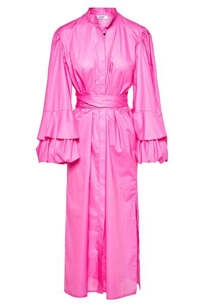 Μίντι Σεμιζιέ Φόρεμα Με Εντυπωσιακά Μανίκια Balloon Και Ενσωματωμένες Ζώνες