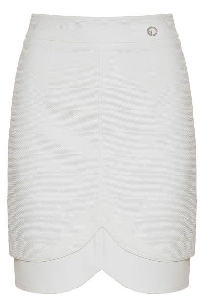 Κοντή Φούστα Πικέ Με Διπλό Τελείωμα
