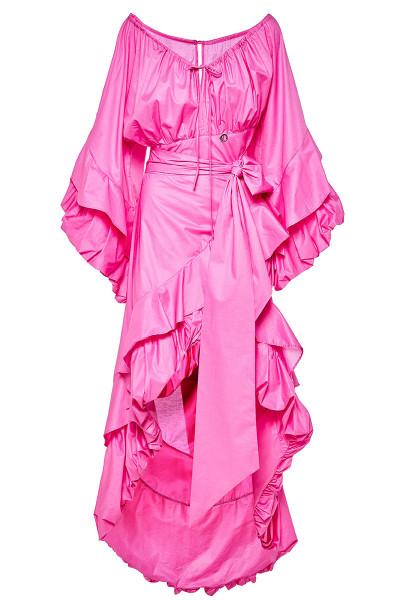 Φόρεμα Έξω Ώμοι Με Ασύμμετρα Μήκη Και Τελείωμα Balloon