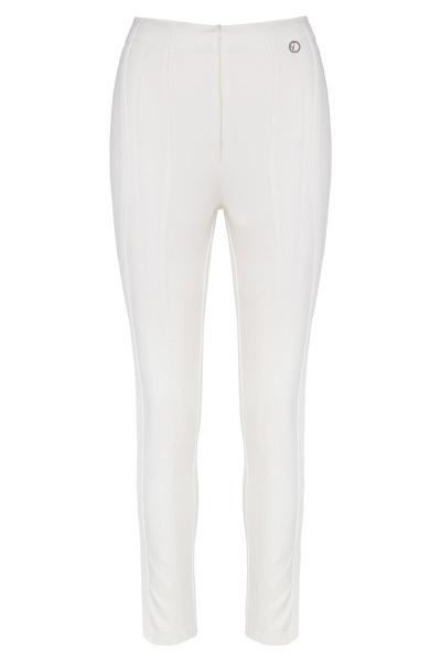 Στενό Ψηλόμεσο Παντελόνι Με Όψη Δέρματος