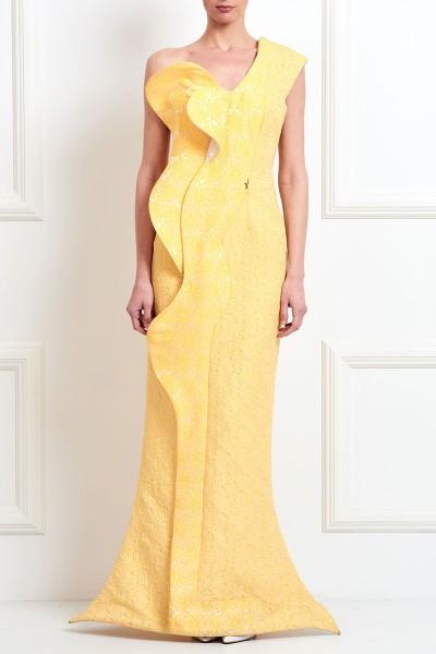 Μακρύ Μπροκάρ Φόρεμα