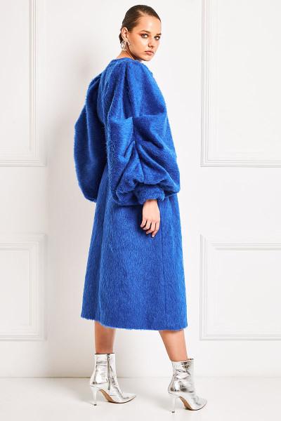 Μάλλινο Παλτό Με Όψη Γούνας Και Εντυπωσιακά Μανίκια