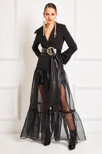 Σακάκι Φόρεμα Με Ενσωματωμένη Φούστα Οργάτζα