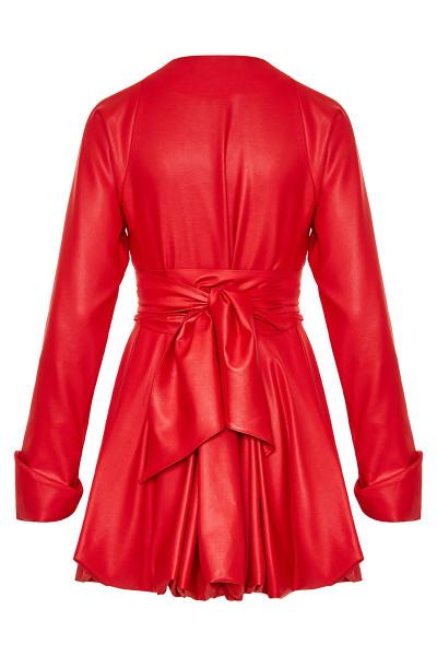 Σεμιζιέ Φόρεμα/Καπαρτίνα Με Όψη Δέρματος