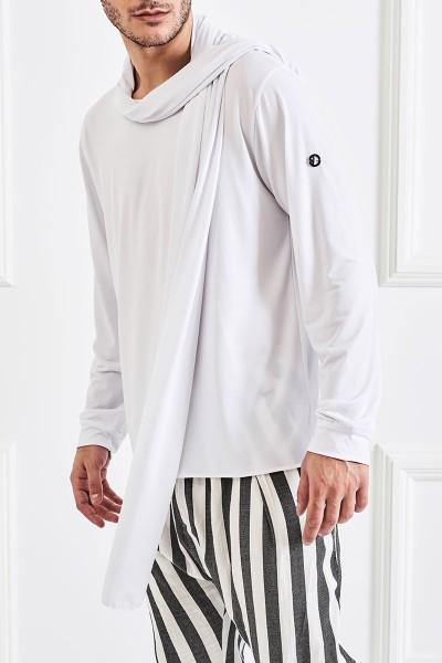 Μακρυμάνικη Μπλούζα με Κασκόλ