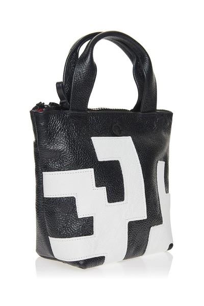 Τσάντα Xειρός με Mαιάνδρους Mικρή